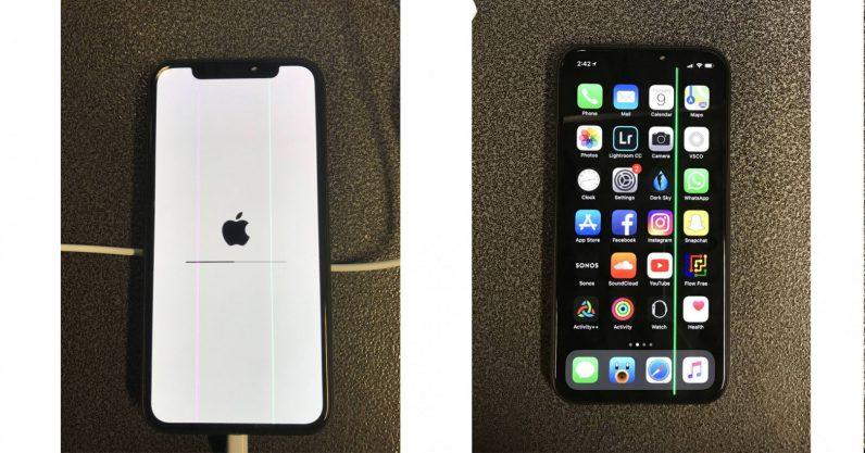 iPhone X défaut fabrication