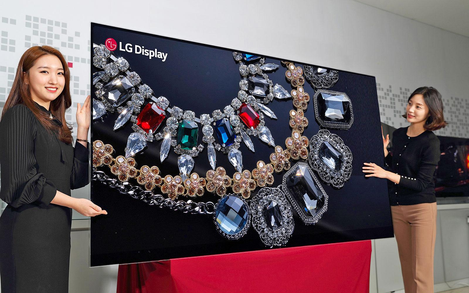En Prélude au CES, LG dévoile un écran OLED 8K de 88 pouces