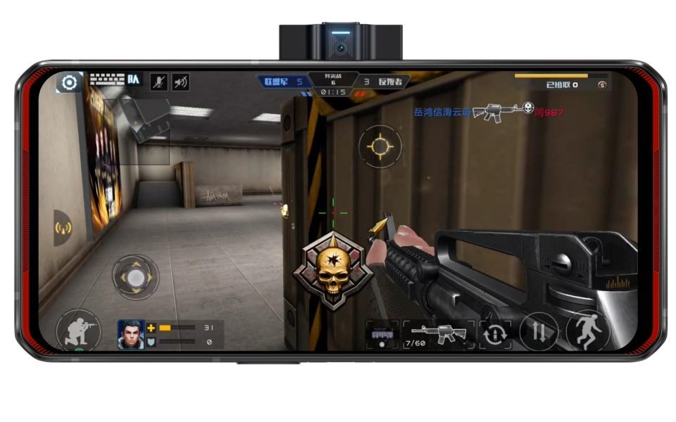 Le Legion Phone Duel a un appareil photo sur le côté et deux batteries