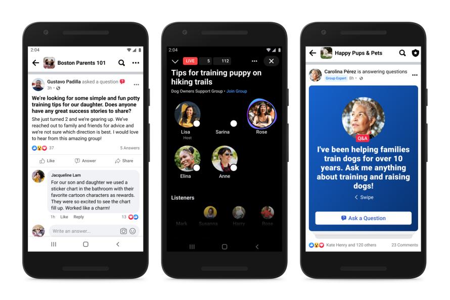 """Les groupes Facebook peuvent désormais compter des """"experts"""""""