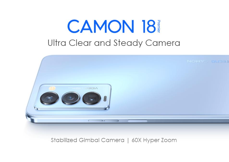 Le nouveau Tecno Camon 18 Premier zoome jusqu'à 60 fois